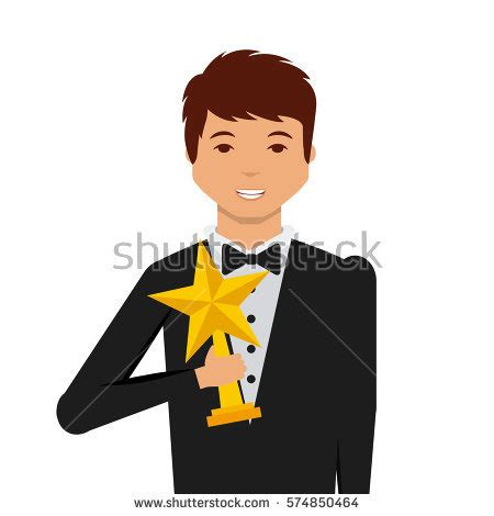 Background Actors Actor Holding Trophy Icon เวกเตอร สต อก