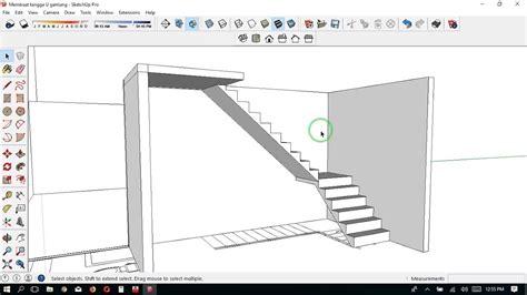 Sketchup Tutorial Membuat Tangga Bentuk Youtube