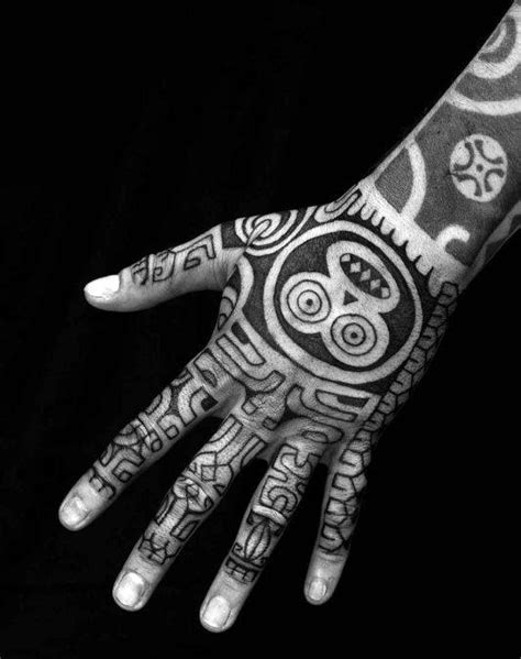 40 Tribal Hand Tattoos For Men - Manly Ink Design Ideas