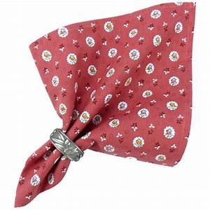Serviette De Table En Tissu : serviette de table tissu proven al rouge motif fleurettes ~ Teatrodelosmanantiales.com Idées de Décoration