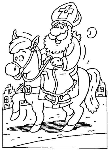 Kleurplaat Paard En Wagen by Kleurplaten Sinterklaas En Paard