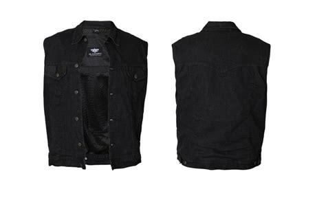 Womens Black Denim Motorcycle Vest