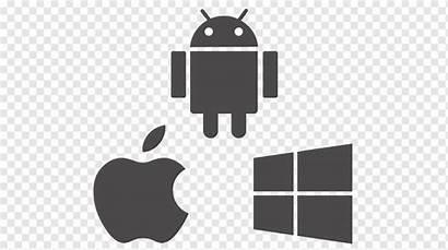 Android Ios Apple Windows Iconos Desarrollo Computadora