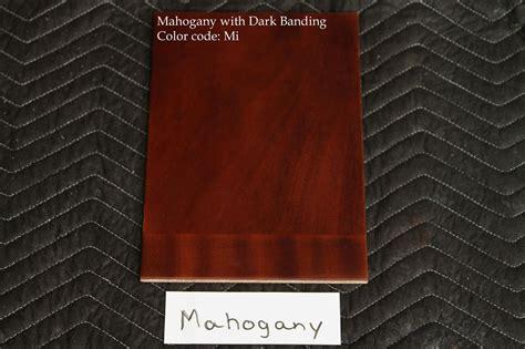 Red Mahogany Finish Samples For 2011-2012