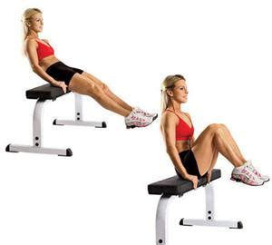 Vertical Bench Crunches by Hacer Abdominales Sentado
