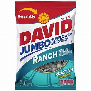David Seeds Jumbo Sunflower Ranch Flavor, 5.25-Ounce Bag ...
