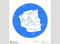 Greece Territory Icon In Cartoon Style Isolated On White