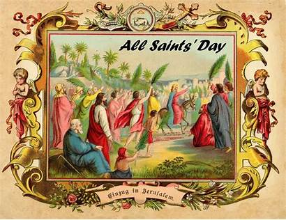 Saints Card Halloween Painting Greeting Frame Cards