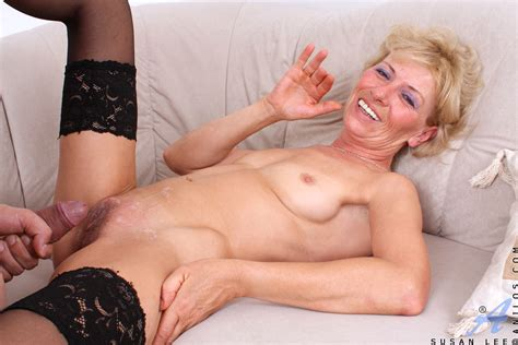 Sex Starved Blonde Milf Gags On The Stiff Cock Of A Young Stud Before She Gets An Intense
