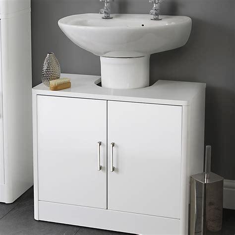 gloss  basin white storage unit house homestyle