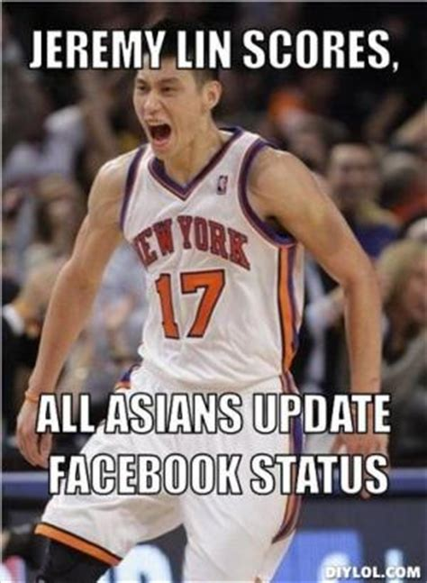 Jeremy Lin Meme - rasist asian jokes kappit
