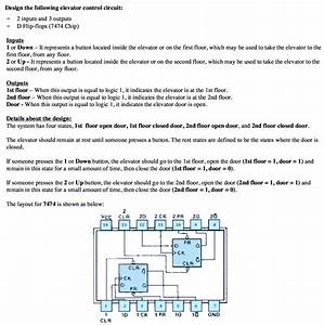 Solved  Design The Following Elevator Control Circuit  2 I