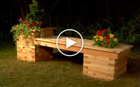 build  planter bench   small backyard