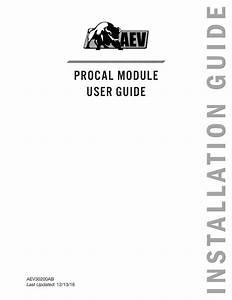 Jk Procal Module User Guide