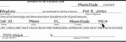 Florida Application Notary Fill Section State Sign