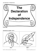 the declaration of independence book printable k