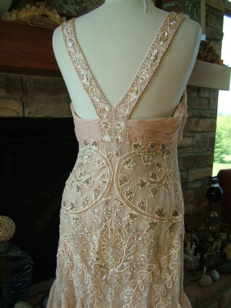 deco 1920s 1930s ruffled deco gown 1920s 1930s wedding dress