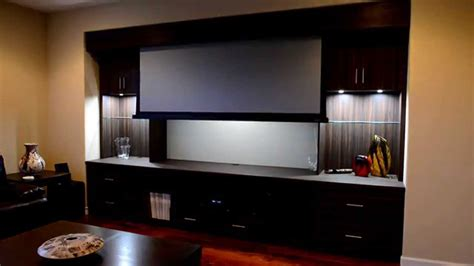 home theater  custom media center  screen