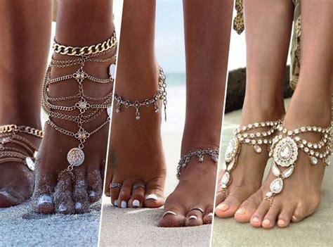 pied de le photos 201 t 233 2017 les bijoux de pied ont la c 244 te
