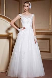 Roxane robe mariee princesse en tulle garnie d39appliques for Robe pour mariage cette combinaison bijoux mariee