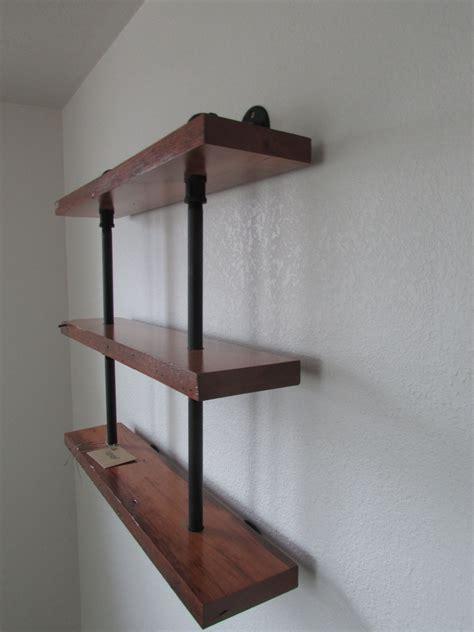 custom  reclaimed wood  pipe shelving unit