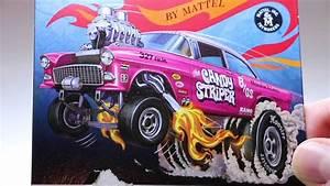 Hot Wheels Rlc  U0026 39 55 Candy Striper Gasser Opened