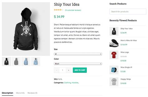 product page four of the best woocommerce themes sell with wp