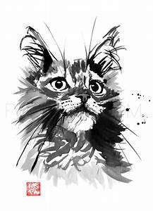 Cats In Sumi-e