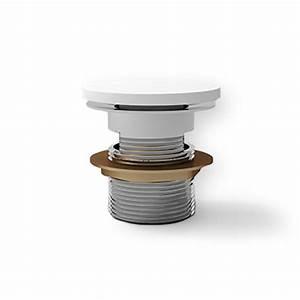 Bonde De Baignoire : bonde clic clac pour baignoire avec cache en r sine blanc mat ~ Melissatoandfro.com Idées de Décoration