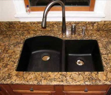 black granite composite sink cleaning interior