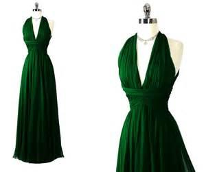 forest green bridesmaid dresses vintage 60s 70s saks gorgeous forest green silk shelf bust