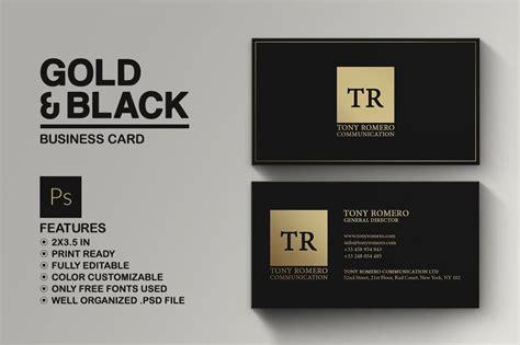 minimal gold  black business card  images
