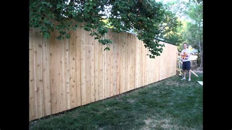 How To Build Backyard Fence by Building A Backyard Fence