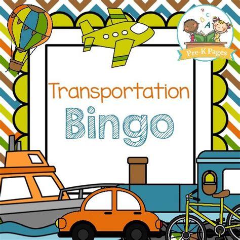 transportation bingo transportation theme for preschool 322 | b3007ebec24ecbef51dab288701d5840
