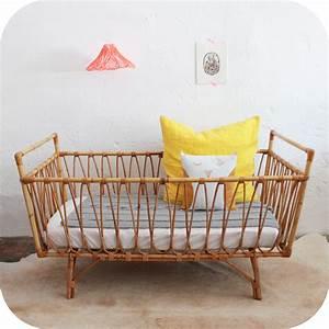 Lit Bebe Rotin : mobilier vintage lit vintage rotin atelier du petit parc ~ Teatrodelosmanantiales.com Idées de Décoration