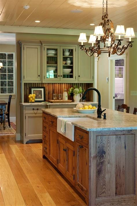 kitchen islands that look like furniture wainscoting in backsplash area to match island