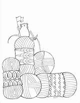 Coloring Pages Still Crochet Yarn Knit Knitting Dream Sheets Colouring Knitpicks Adult Books Getdrawings Visit Habit Franklin sketch template