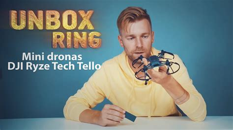 mini dronas dji ryze tech tello unbox ring laisves tv  youtube