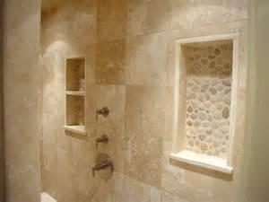 travertine bathroom ideas travertine river rock shower