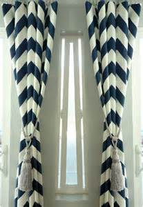 sale pair of two 25 quot cotton navy blue chevron curtains custom drapes panels quot premier