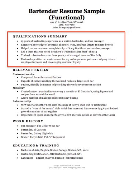 Key Qualifications Resume by How To Write A Summary Of Qualifications Resume Companion