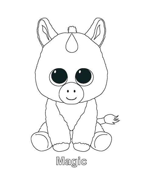 Cute Unicorn Emoji Coloring Pages
