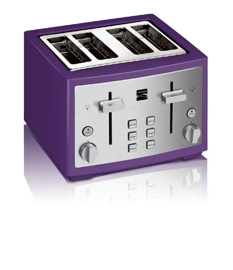 purple toaster oven kenmore 131601 p 4 slice toaster purple sears outlet