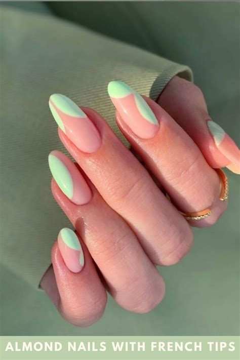 Almond nails with French tips Designs Perfect For women