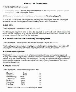 employment agreement contract sample 9 examples in word With full time employment contract template