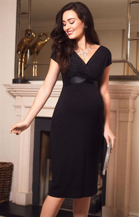 Bardot Maternity Shift Dress Night Sky Maternity Wedding