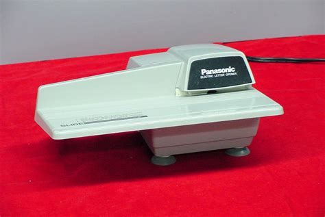 electric letter opener panasonic electric automatic letter opener bh 752 ebay