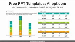 Part Information Flow Chart Stacked Vertical Bar Chart Powerpoint Diagram Template