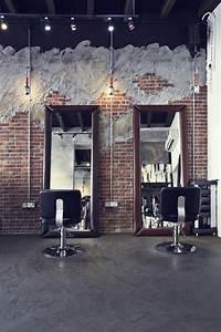 Industrial Style Shop : industrial hair salon design chairs mirrors wall design style industrial design pinterest ~ Frokenaadalensverden.com Haus und Dekorationen