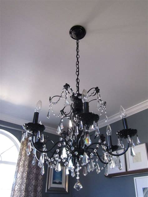 diy paint a hideous brass chandelier nesting